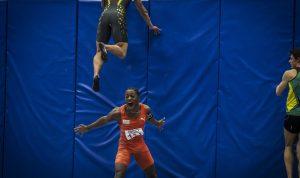 Friidrett NM Innendørs 2015 STJERNELAG: Salum Kashafali er ein av Norges raskaste menn, og konkurrerer i ei av verdas tøffaste idrettar; sprint. Foto : Eirik Førde