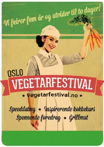 Plakat fra Oslo Vegetarfestival 2014.